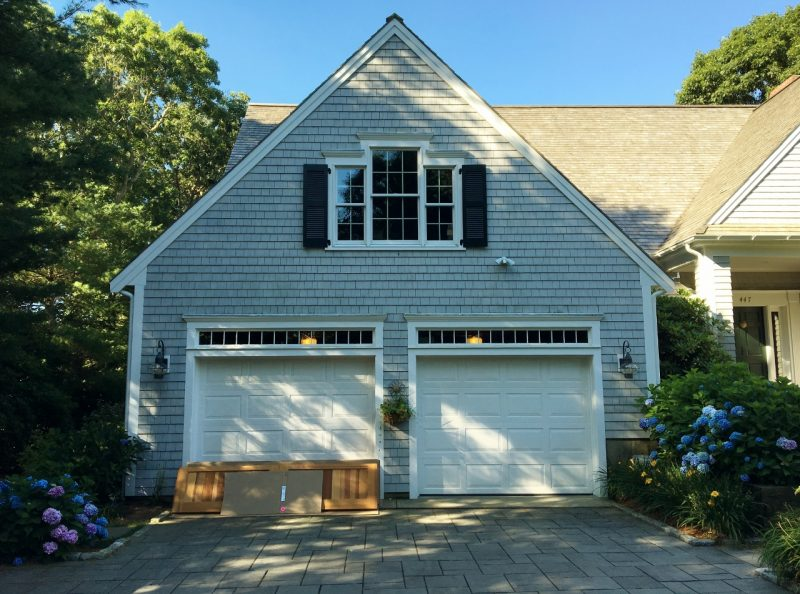 Cape cod custom homes archives c j riley builder for Garage door refacing
