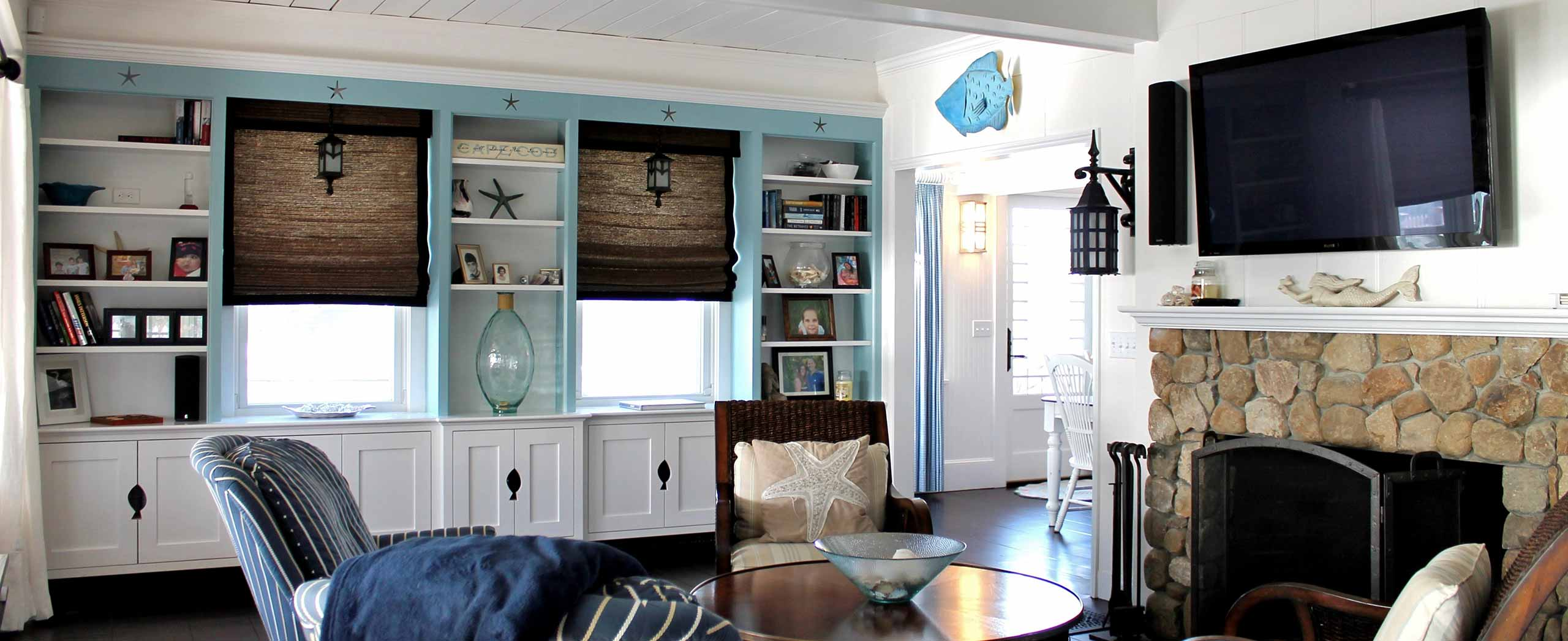 Cape Cod Coastal Living Room Renovation