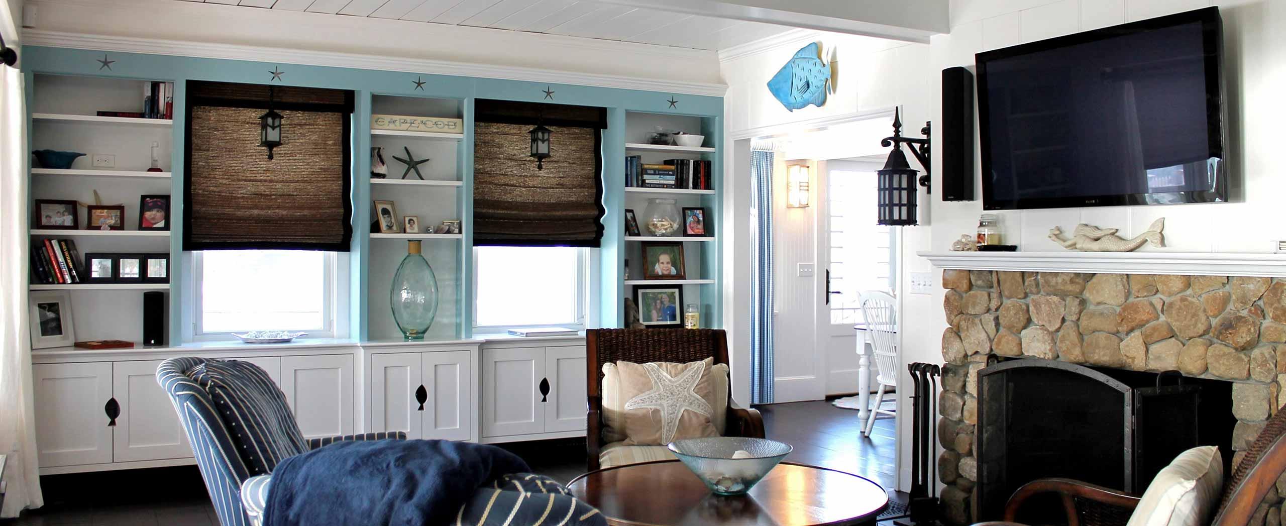 Cape Cod Coastal Living Room Renovation
